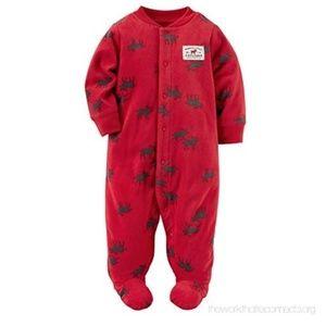 844ecbc89 Kids  Red Pajamas With Feet on Poshmark